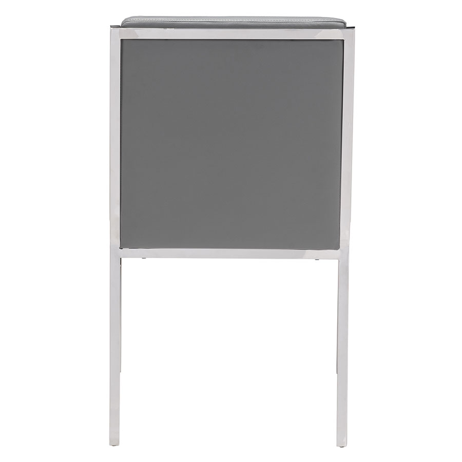 Kaden Gray Leatherette + Steel Contemporary Dining Chair