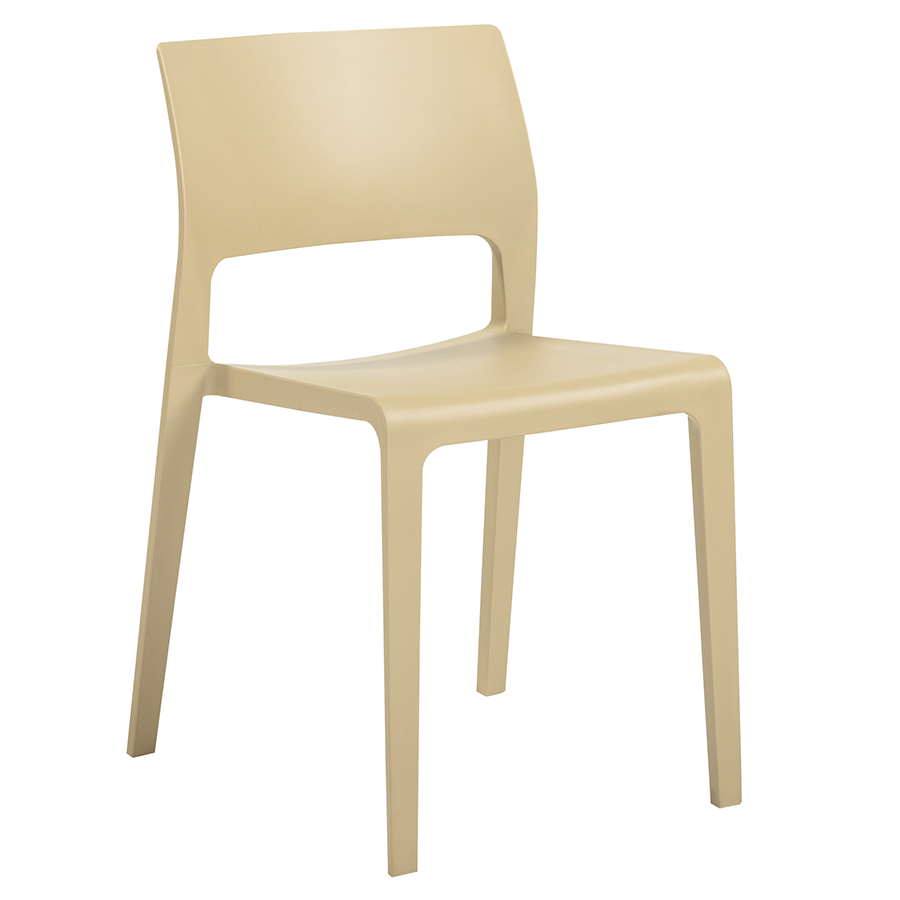 Kara Taupe Modern Stacking Chair