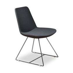 Keene Gray Wool Modern Dining Chair