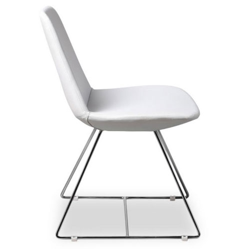 Keene White Leatherette Modern Dining Chair