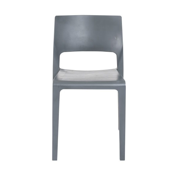 Kelsey Modern Gray Stacking Chair - Front View