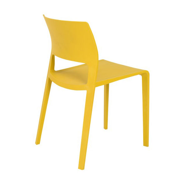 Kelsey Modern Yellow Stacking Chair - Back View