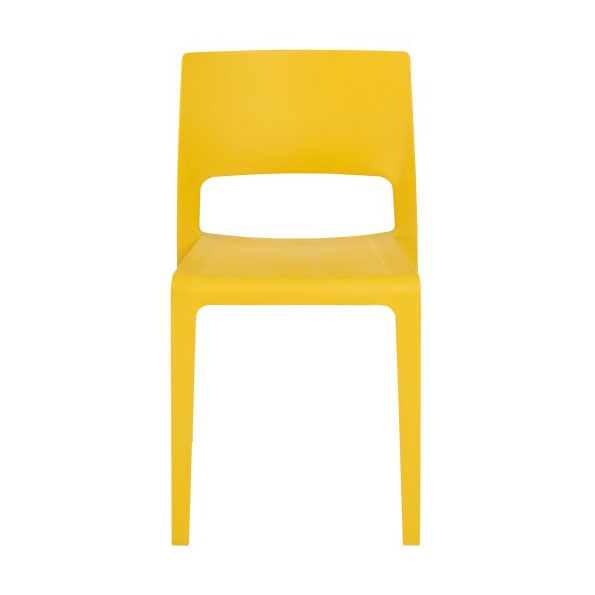 Kelsey Modern Yellow Stacking Chair - Front View