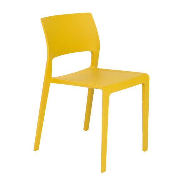 Kelsey Modern Yellow Stacking Chair