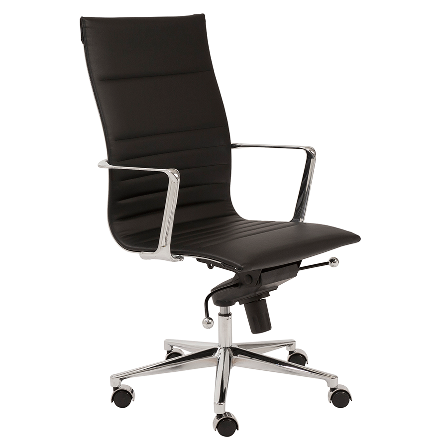 Kyell Black High Back Modern Office Chair