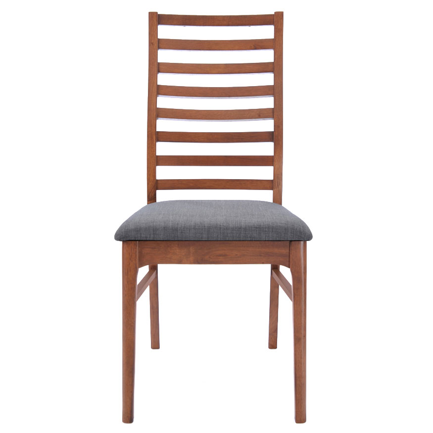 Lacrosse Contemporary Dining Chair with Gray Seat
