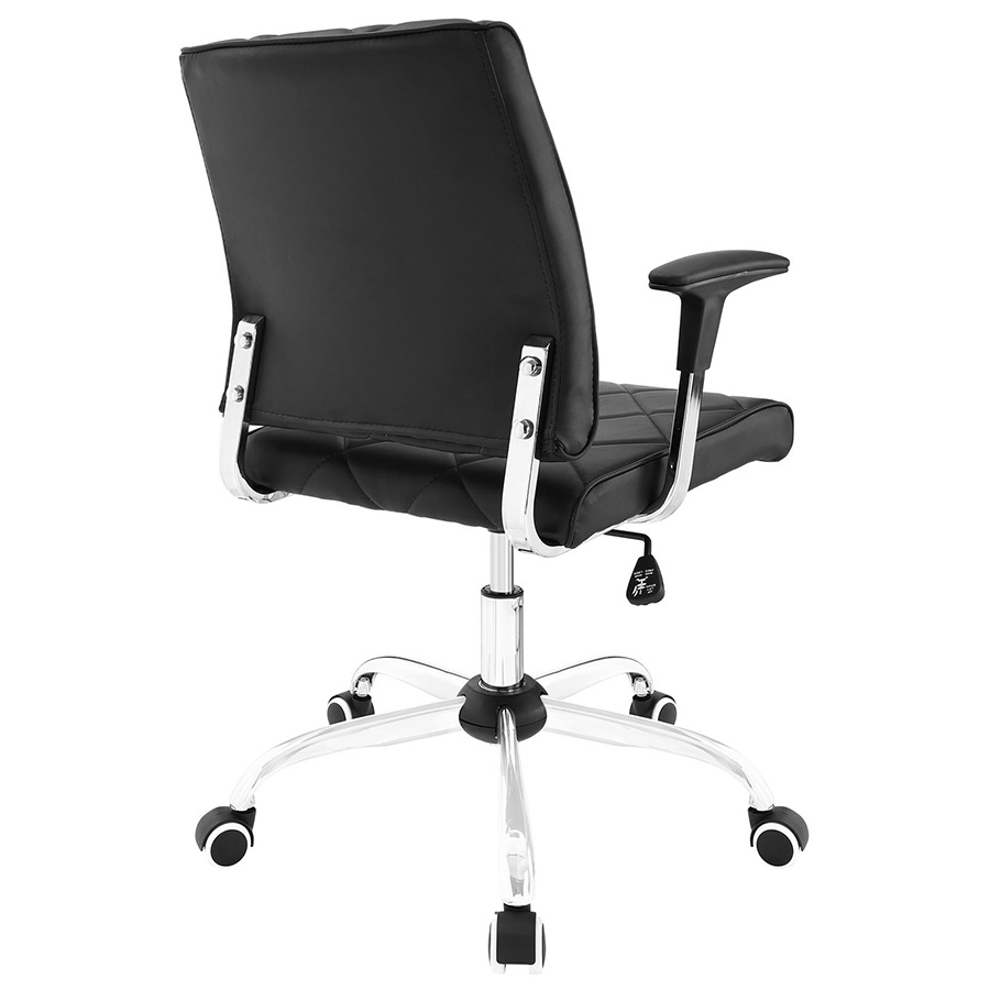Ladera Modern Black Office Chair - Back View