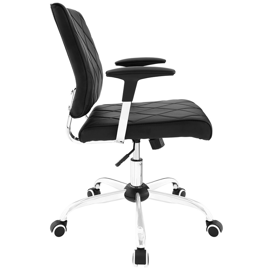 Ladera Modern Black Office Chair - Side View