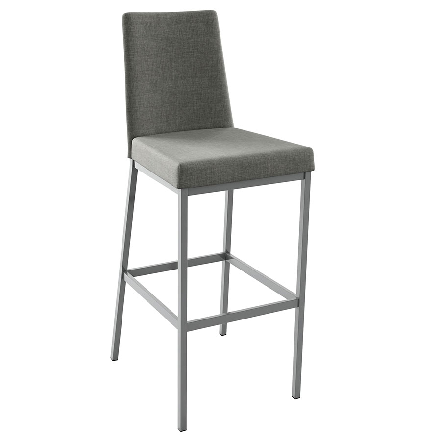 Laird Modern Bar Stool in Magnetite and Ritzy