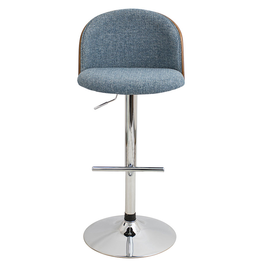 Laney Blue Contemporary Adjustable Bar Stool