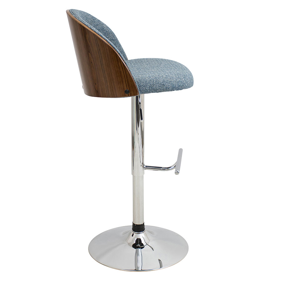Laney Blue Modern Adjustable Stool
