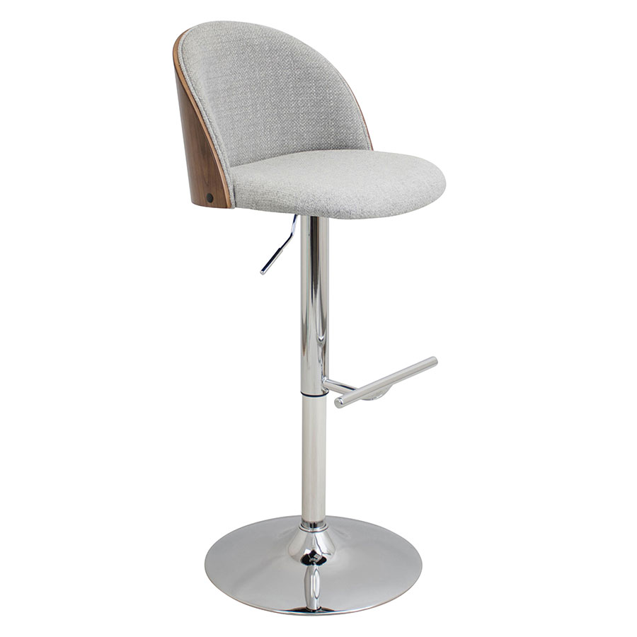 Laney Gray Modern Adjustable Stool