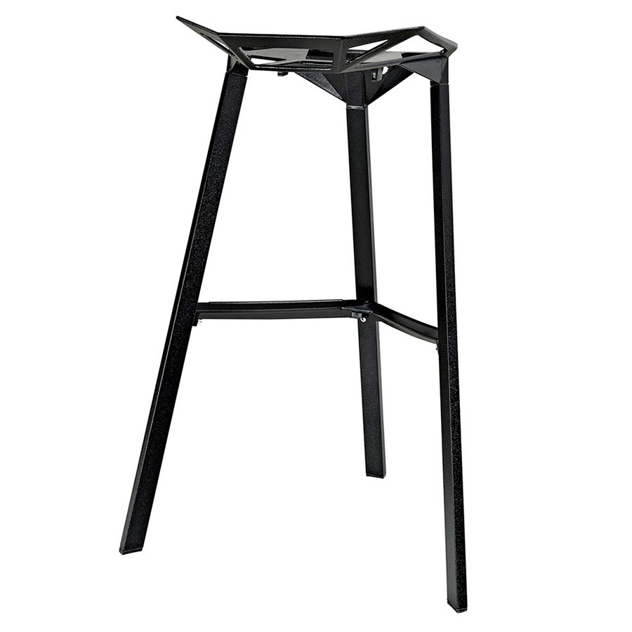 Laurel Black Ultra Modern Indoor/Outdoor Bar Stool - Back View