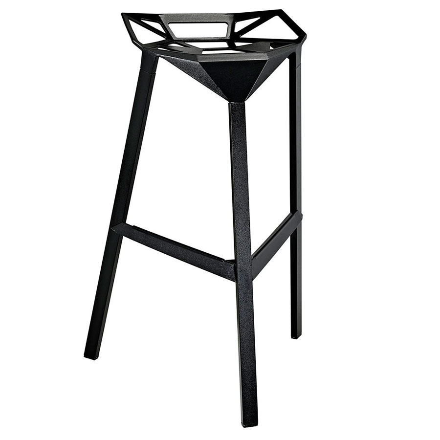 Laurel Black Ultra Modern Indoor/Outdoor Bar Stool