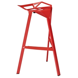 Laurel Red Ultra Modern Indoor/Outdoor Bar Stool