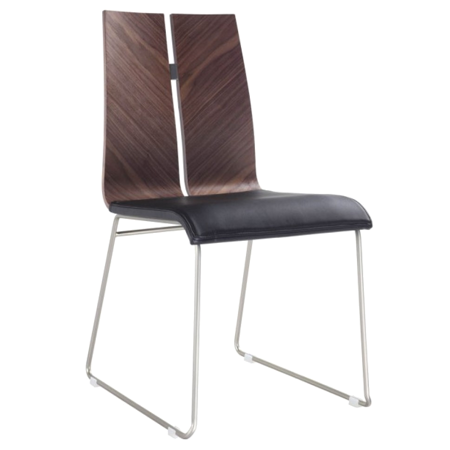 Lauren Black + Walnut Modern Dining Side Chair