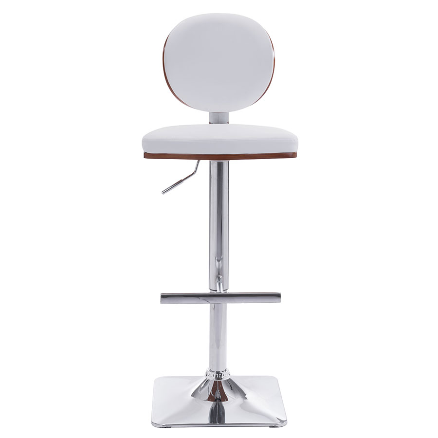 Lauritzen White Contemporary Adjustable Stool