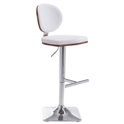 Lauritzen White Modern Adjustable Stool