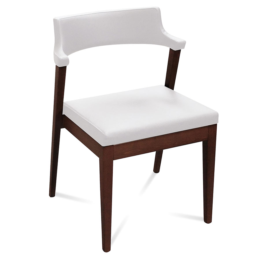 Lawson White Modern Dining Chair