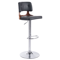 Leela Black Modern Adjustable Stool
