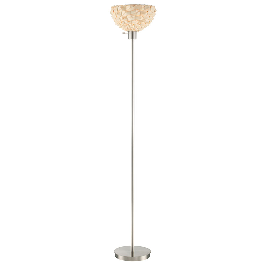 Modern floor lamps lemuel torchiere eurway for Contemporary torchiere floor lamps