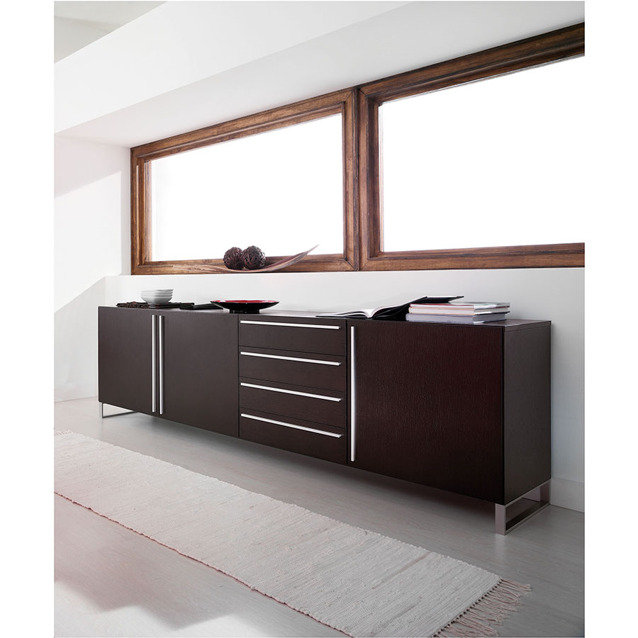 Leopold Long Wenge Contemporary Sideboard