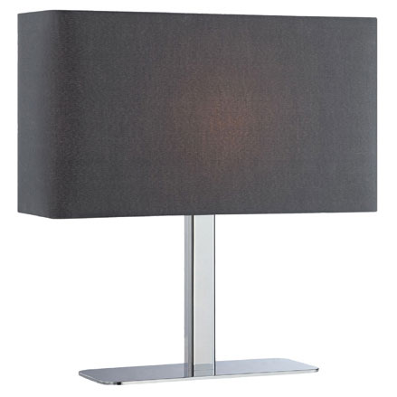 Lepon Modern Table Lamp - Black Fabric Shade
