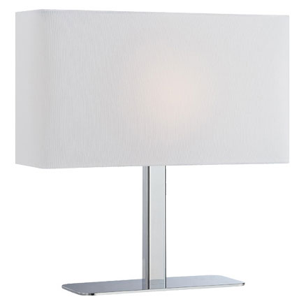 Lepon Contemporary Table Lamp with a White Shade