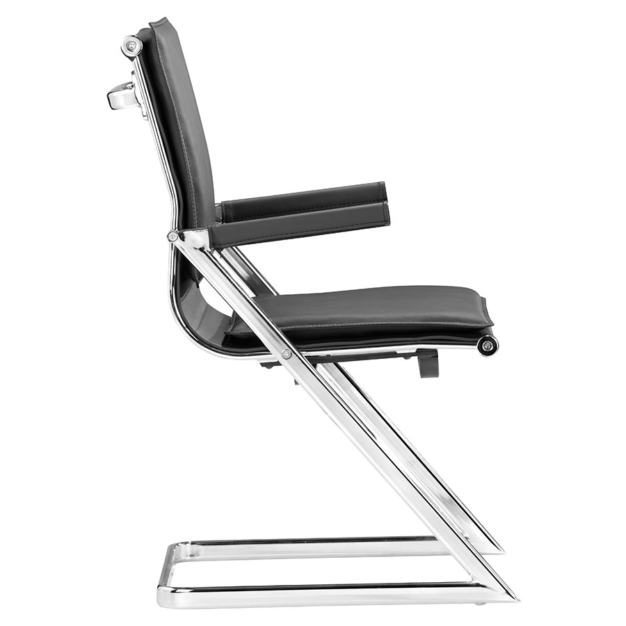 Lider Black Contemporary Conference Chair