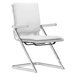 Lider Plus White Modern Conference Chair