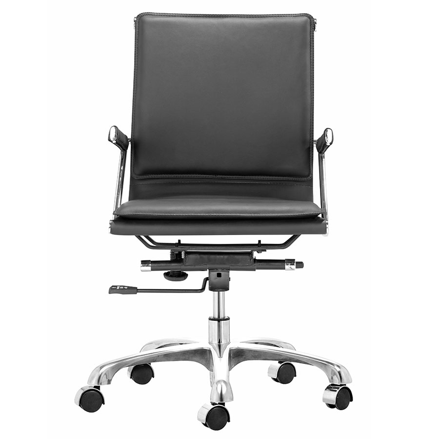Lider Plus Black Contemporary Office Chair