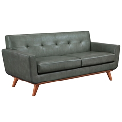 Lila Gray Contemporary European Modern Loveseat