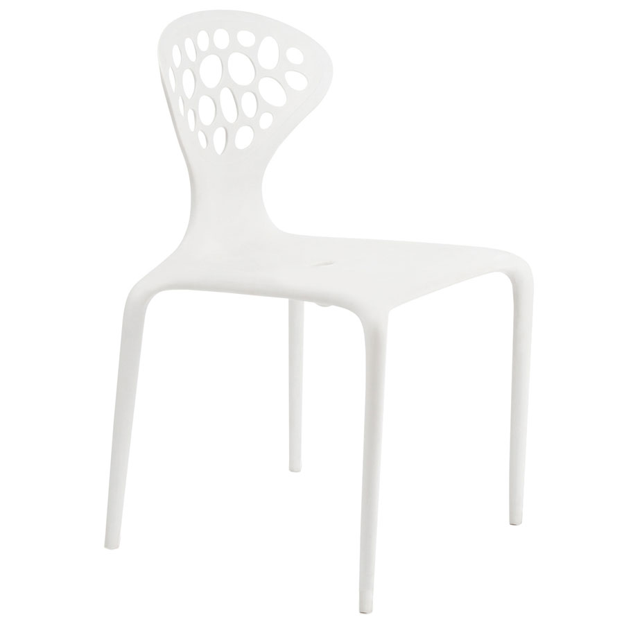 Lilly White Modern Dining Chair