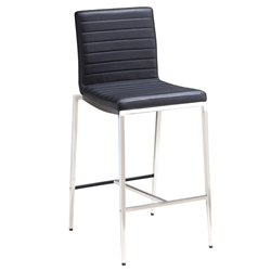 Lily Black Modern Counter Stool