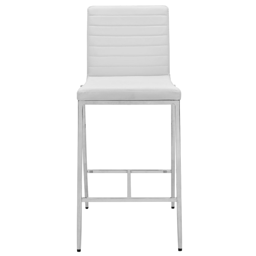 Lily White Contemporary Counter Stool