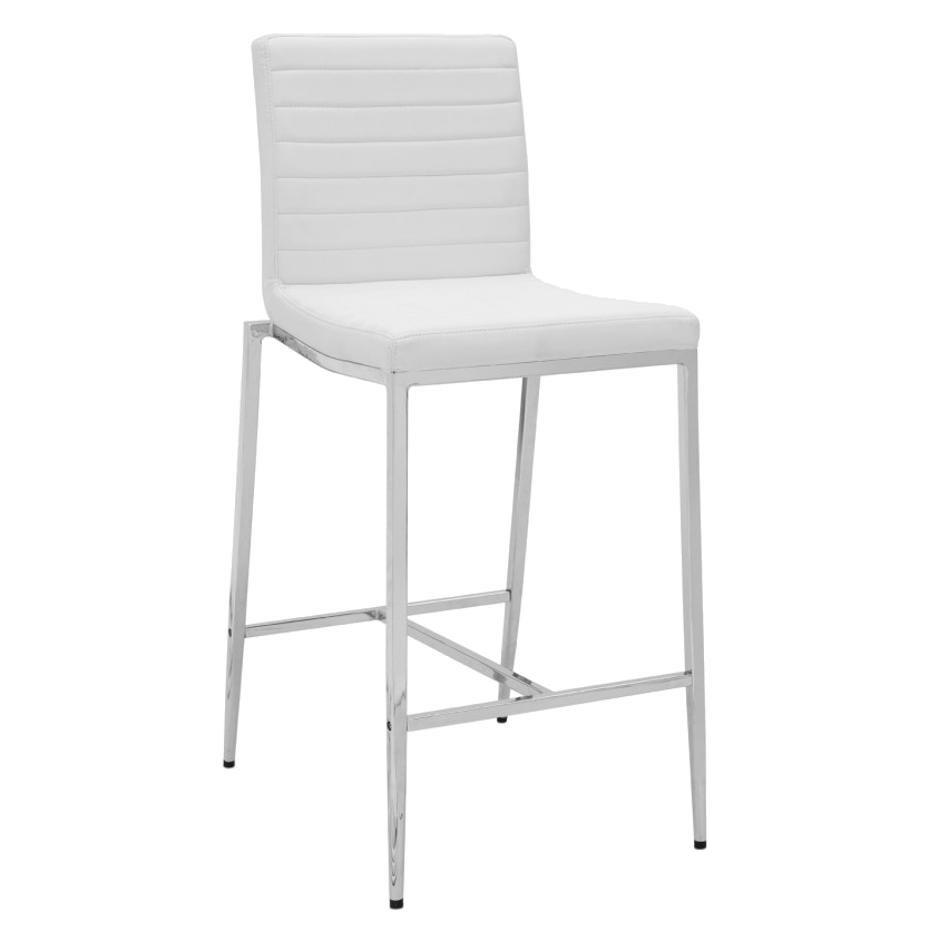 Lily White Modern Counter Stool
