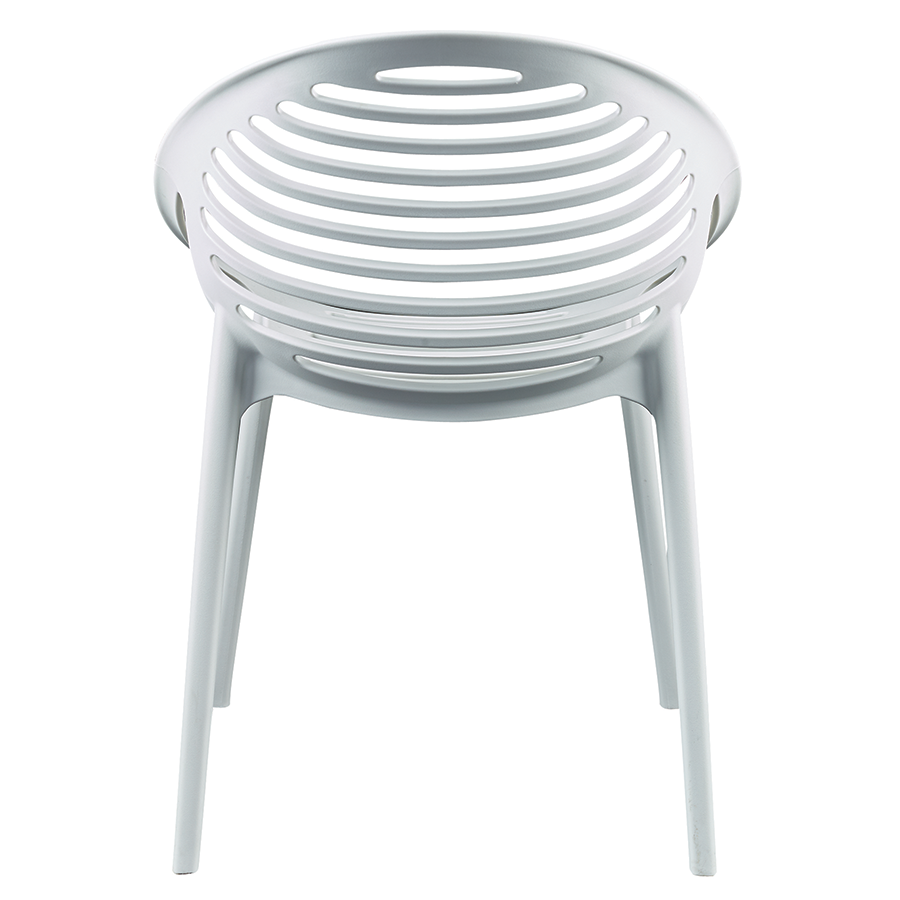 Lima White Modern Stacking Dining Chair