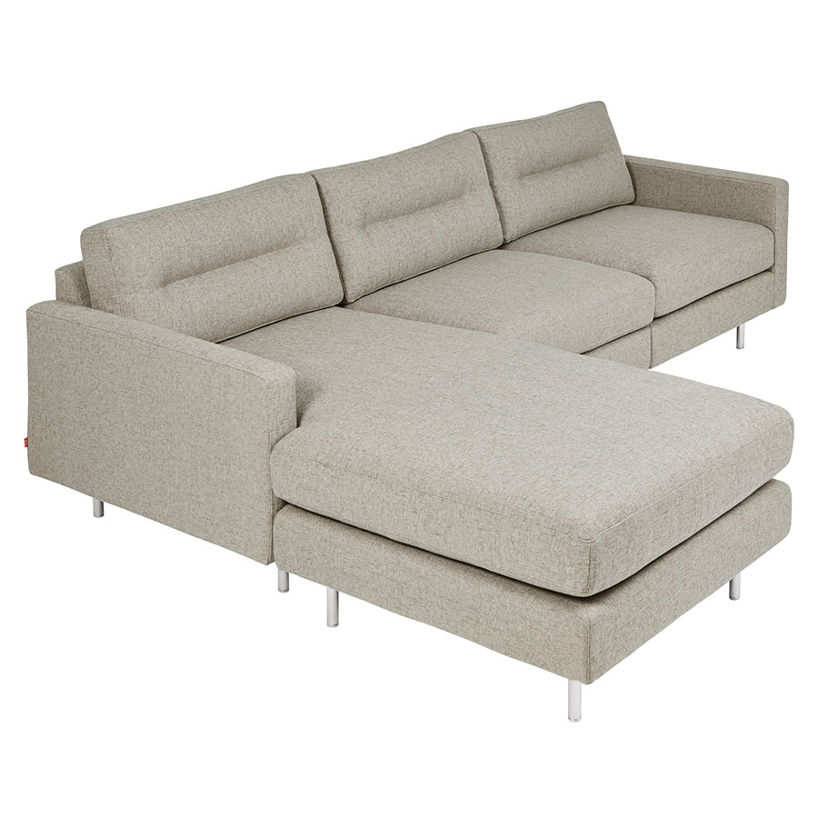 Logan Contemporary Bi-Sectional Sofa in Leaside Driftwood by Gus* Modern