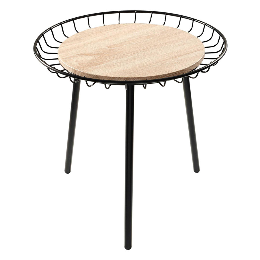 Lola Contemporary Distressed Wood End Table