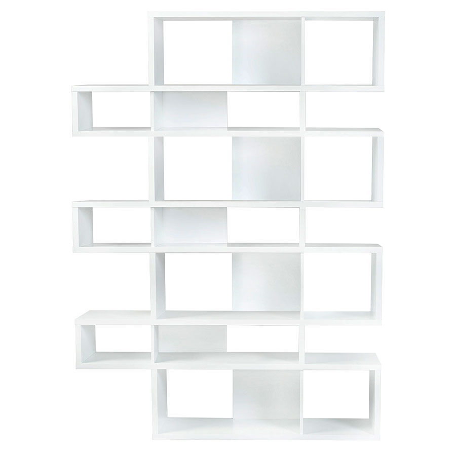 London White Modern Triple Height Bookcase
