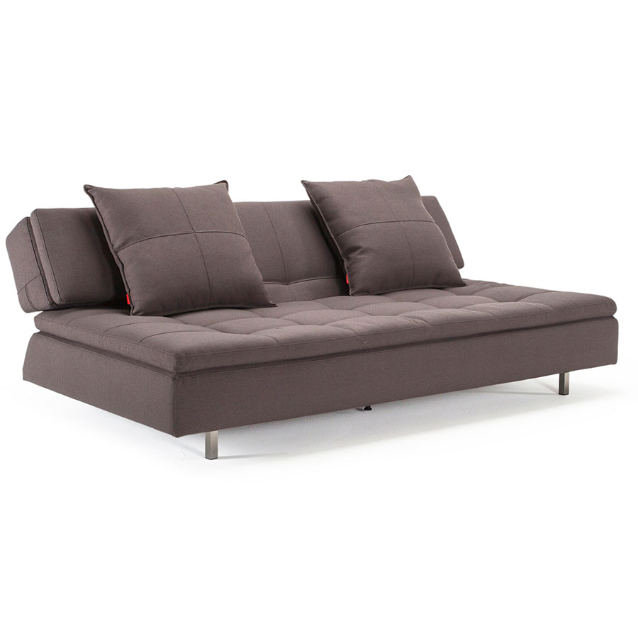Long Horn Dual Sleeper Sofa in Soft Grey - Relaxed