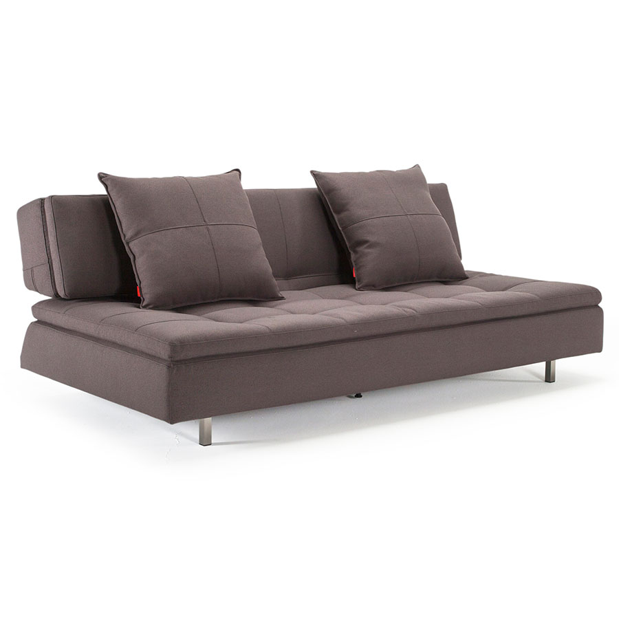 Long Horn Dual Sleeper Sofa in Soft Grey