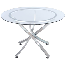 Lucas Modern Chrome Dining Table