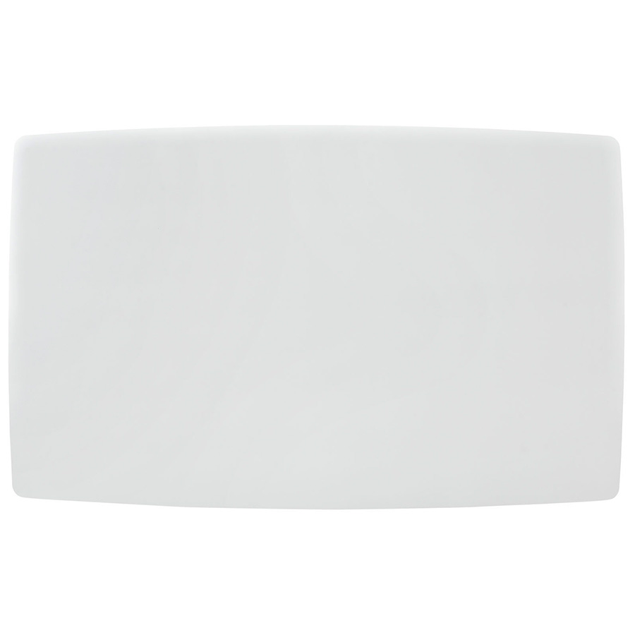 Lugano White Modern Dining Table - Top Shape