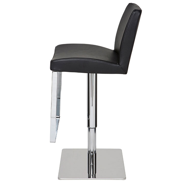 Maastrict Modern Black Adjustable Stool - Side View