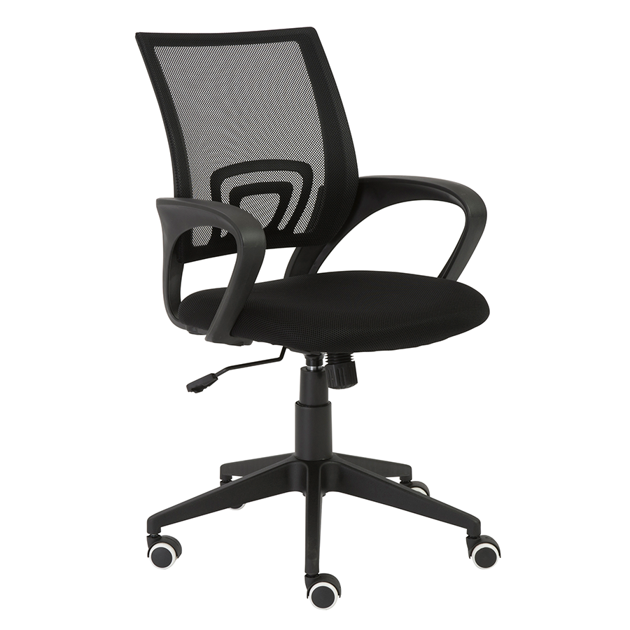 Machiko Black Modern Office Chair
