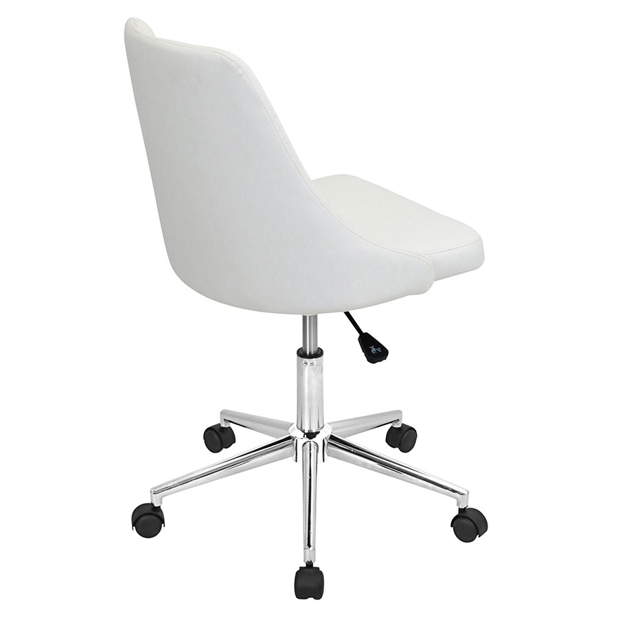 Mackenzie White Leatherette Contemporary Office Chair