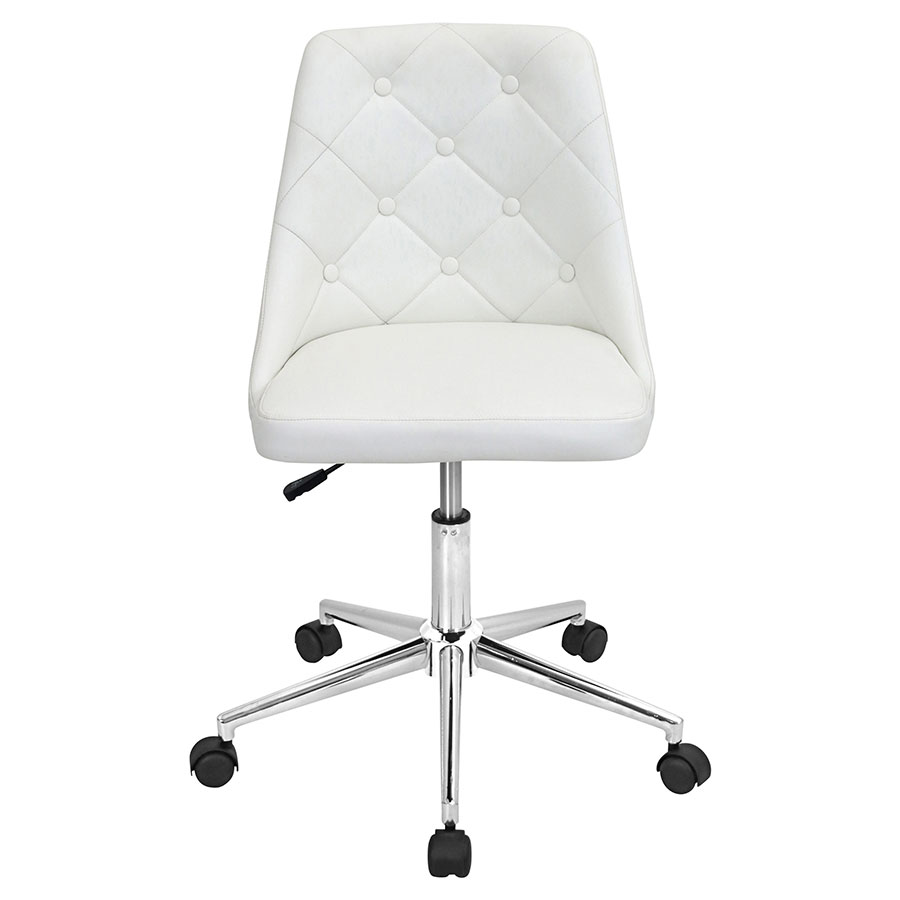 Mackenzie White Contemporary Office Chair