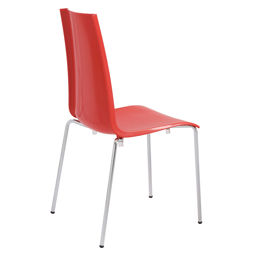 Maddox Red Contemporary Dining Chair