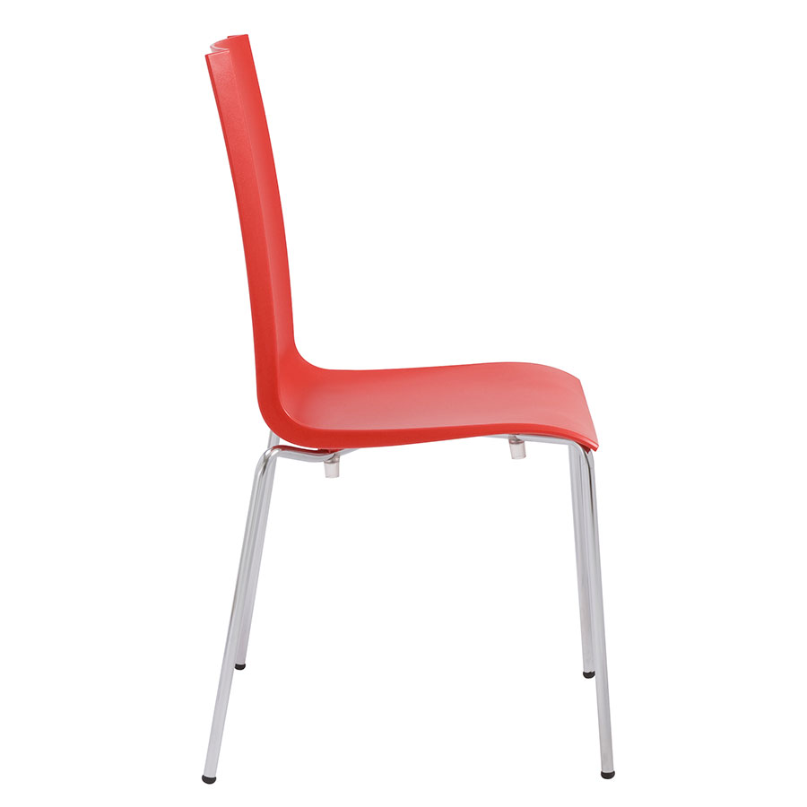 Maddox Red Modern Dining Chair